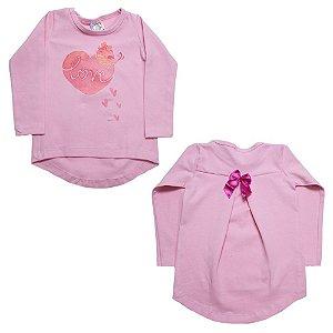 Blusa Infantil Love Inova Kids Rosa