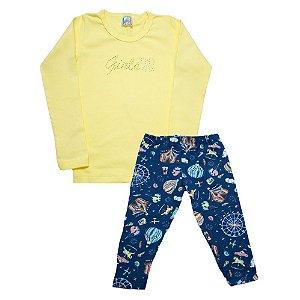 Conjunto Infantil Girls Inova Kids Amarelo