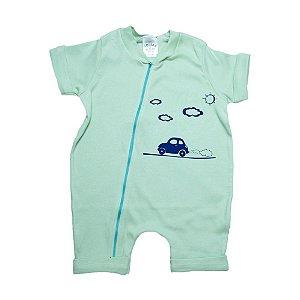 Macacão Bebê Carrinho G Kids Verde