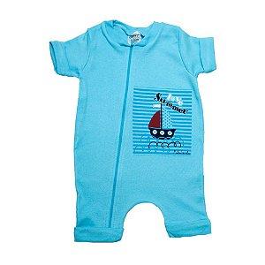Macaquinho Bebê Barquinho G Kids Azul