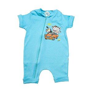 Macaquinho Bebê Ursinho G Kids Azul