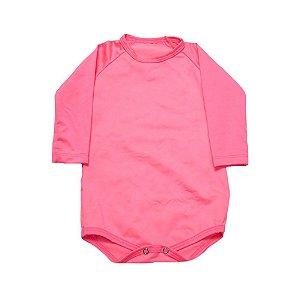 Body Bebê  Praia Baby Gut Rosa Neon