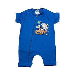 Macaquinho Bebê Ursinho G Kids Azul Royal