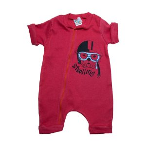 Macaquinho Bebê Dog G Kids Vermelho