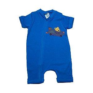 Macaquinho Bebê Urso Aviador G Kids Azul Royal