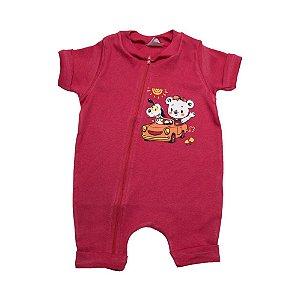 Macaquinho Bebê Urso G Kids Vermelho