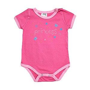 Body Bebê Princess Elô Pink
