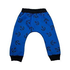 Calça Saruel Bebê/ Infantil Âncora Jeito Infantil Azul Royal