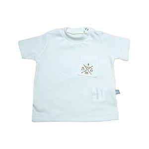 Camiseta Bebê Com Bolso Baby Gut Pérola