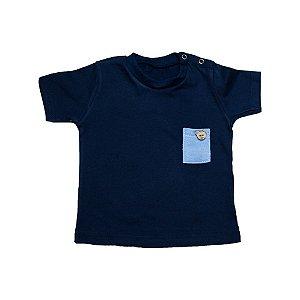 Camiseta Bebê Urso Baby Gut Marinho