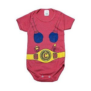 Body Infantil Super Herói G Kids Salmão