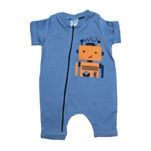 Macaquinho Bebê Robô G Kids Azul