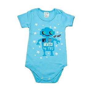 Body Infantil Robô G Kids Azul