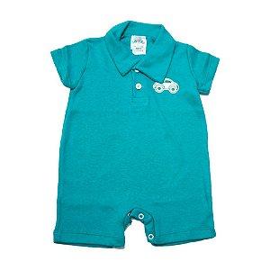 Macaquinho Bebê Com Aplique G Kids Verde