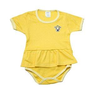 Body Bebê/Infantil Com Babado e Aplique G Kids Amarelo
