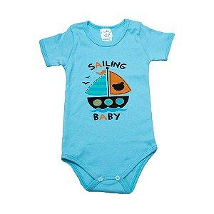 Body Infantil Barquinho G Kids Azul
