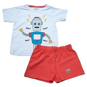 Conjunto Infantil Robô Eleva Branco