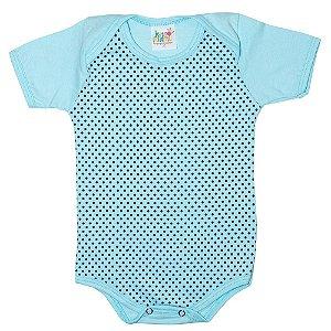 Body Bebê Poá Jeito Infantil Azul