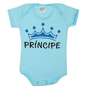 Body Bebê Príncipe Jeito Infantil Azul