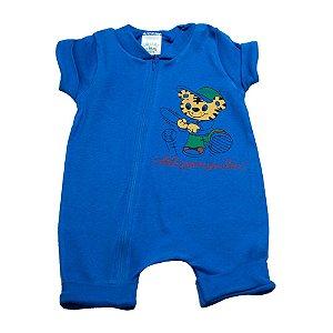 Macaquinho Bebê Tigre G Kids Azul Royal