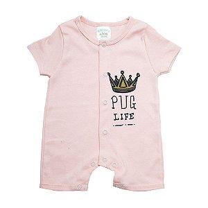 Macaquinho Bebê Coroa G Kids Salmão