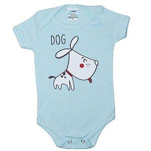 Body Bebê Dog Anjinho Meu Azul