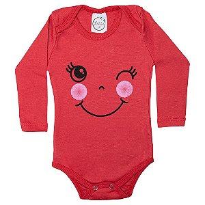 Body Bebê Piscadinha Lolita Vermelho
