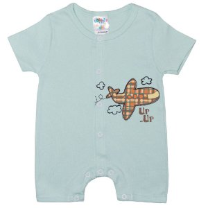 Macaquinho Bebê Avião G Kids Verde