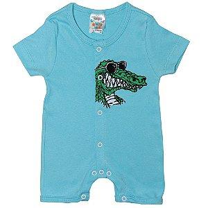 Macaquinho Bebê Crocodilo G Kids Azul