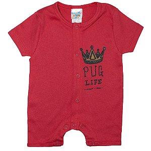 Macaquinho Bebê Coroa G Kids Vermelho