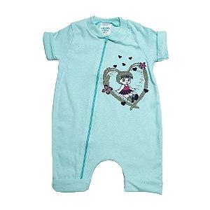 Macacão Bebê Menina G Kids Verde