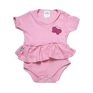 Body Bebê Com Babado e Aplique G Kids Rosa