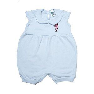 Macaquinho Bebê Com Aplique G Kids Branco