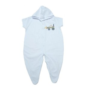 Macacão Bebê Aplique Com Capuz G Kids Branco