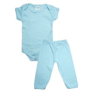 Conjunto Bebê Body e Calça Meu Liso Bebê Verde