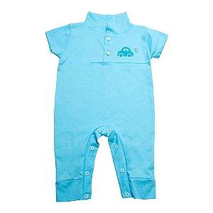 Macaquinho Bebê Aplique G Kids Azul