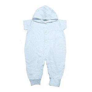 Macacão Bebê Com Capuz G Kids Branco