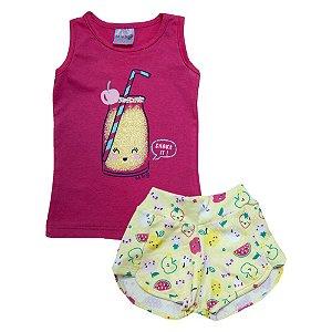 Conjunto Bebê Frutas Ba & Bi Pink