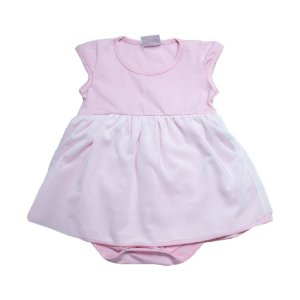 Body Vestido Bebê Com Tule Ba & Bi Rosa