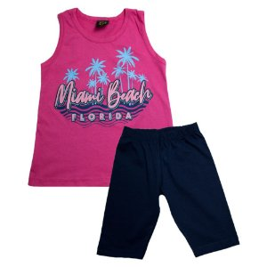 Conjunto Juvenil Miami Beach Difusão Pink