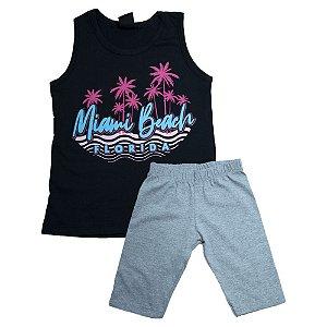 Conjunto Juvenil Miami Beach Difusão Preto