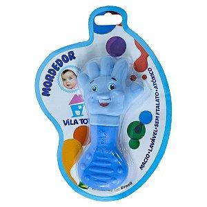 Mordedor Bebê Mãozinha Vila Toy Azul