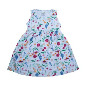 Vestido Infantil Floral Castelo Kids Branco