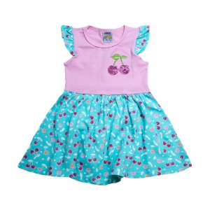 Vestido Infantil Cereja Ninando Rosa