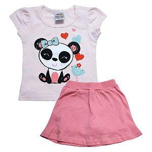 Conjunto Bebê Panda Ninando Salmão