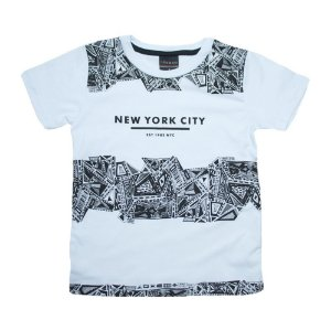 Camiseta Infantil New York City Ninando Branco