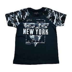 Camiseta Infantil New York Ninando Chumbo