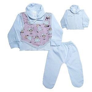 Conjunto Bebê Pagão Colete Radani Branco
