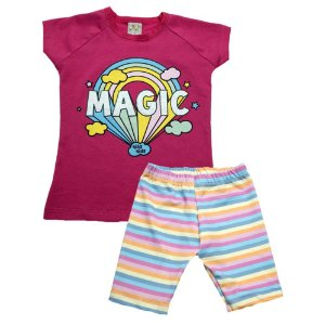 Conjunto Infantil Magic Kibs Kids Pink