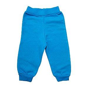 Calça Bebê Moletom Jeito Infantil Azul Royal